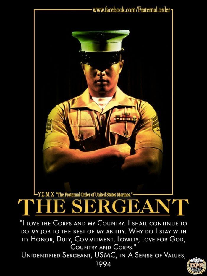 For all you Sergeants out there, YOU are the backbone. Set the standard and demand that other Marines strive to do the same. Stay motivated and Ooh-freaking-rah!