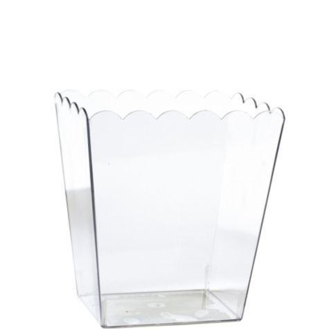 Small Scalloped Plastic Container - Party City
