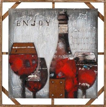 Gezellig avondje met vrienden of vriendinnen bijkletsen. En ook nog eens een super mooi schilderij!  https://www.schilderijenshop.com/moderne-schilderijen/schilderij-wijn-100x100-3d-elementen