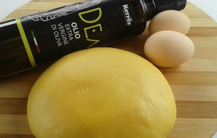 Pasta frolla con olio extravergine di oliva