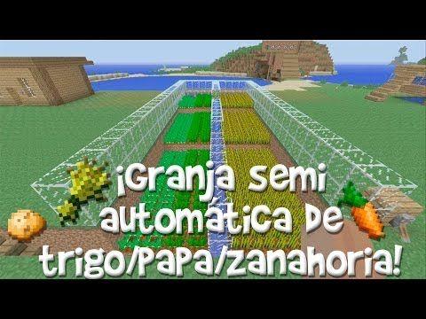 ¡Como Hacer Una Granja Semi-Automática De Trigo/Papa/Zanahoria! Minecraft Xbox 360/PS3 - YouTube