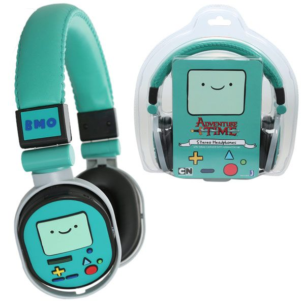 These Adventure Time Beemo Headphones are the perfect way for Adventure Time fans to listen to their favorite tunes. Oh my Glob. These headphones are awesome.   Make music time Adventure Time. Perfect for the iPod, iPad, iTouch, Zune, almost any device you can think of. These headphones are de