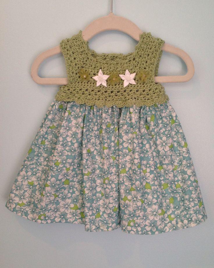 Crochet infant dress $30.  3m