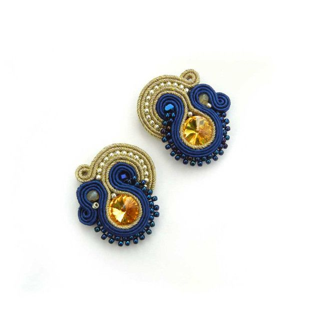 Very fashionable, elegant and unusual handmade soutache earrings. ITEM DETAILS • earrings made of very high quality soutache strings • all of AdityaDesign jewelry is decorated with...