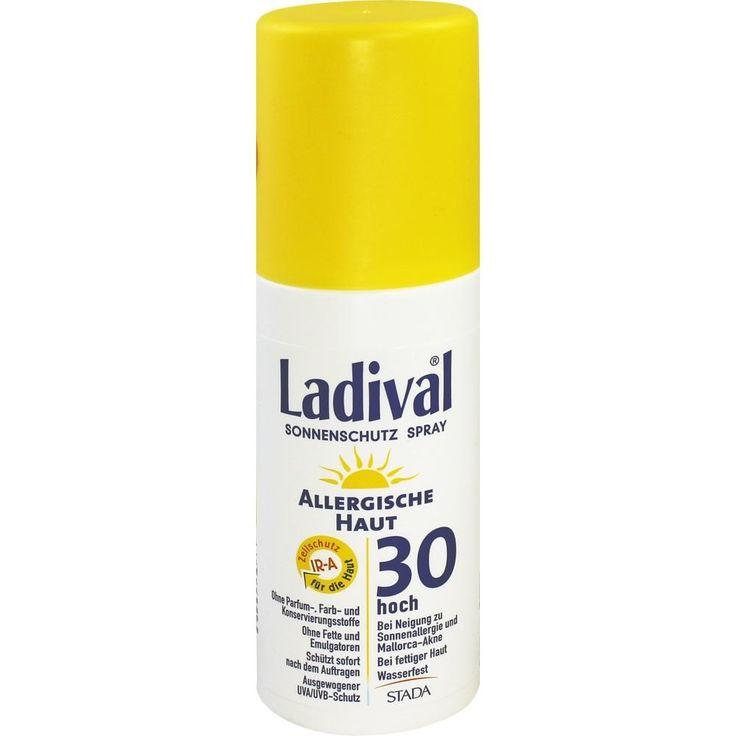 LADIVAL allergische Haut Spray LSF 30:   Packungsinhalt: 150 ml Spray PZN: 10022652 Hersteller: STADA GmbH Preis: 12,89 EUR inkl. 19 %…