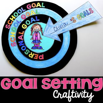 This Goal Setting Craftivity is a great way to start off the new school year to help students set goals, specifically SMART Goals. The craftivity has students set school goals and personal goals and makes a great classroom display for Open House or Back-to-School Night.
