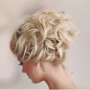 Loose Romantic Wedding Hair | Romantic loose curly updo #wedding
