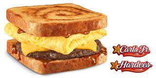 Carl's Jr & Hardee's: BOGO FREE Cinnamon French Toast Breakfast Sandwich Coupon! Read more at http://www.stewardofsavings.com/2015/08/carls-jr-hardees-bogo-free-cinnamon.html#XuAMzzOjOR5tsAkR.99