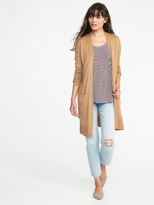 Super-Long Open-Front Sweater for Women  b96e3fc9d