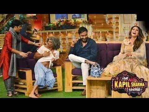 Kapil Sharma Comedy with  Kajol & Ajay Devgan  Funny Moments YouTube