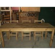Mesas y sillas, macizas estilo campo , para tu hogar. www.mueblerialosalamos.com.ar