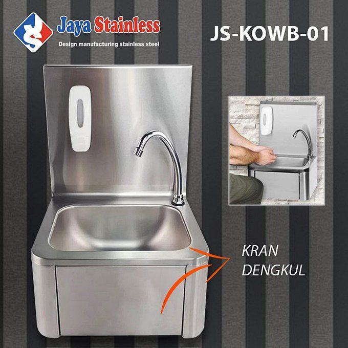 Knee Operated Wash Basin KOWB-01 / wastafel keran dengkul