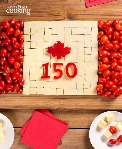 Canada Day Cheese Board #recipe