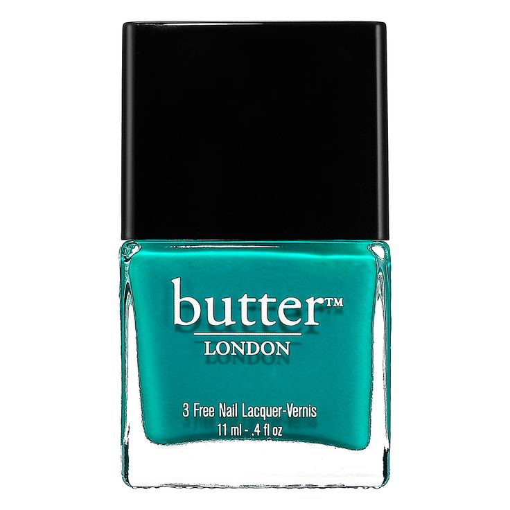 butter LONDON Slapper Nail Lacquer | A truly teal nail lacquer, bold and very bright. Street slang for a woman of loose morals.