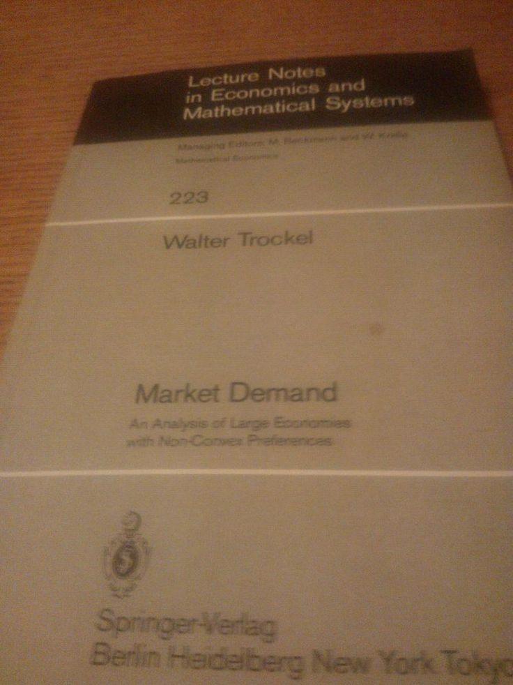Walter Trockel: Market Demand