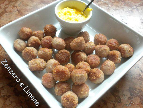 polpettine con salsa al limone
