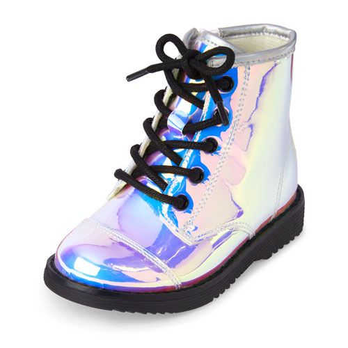 Toddler Girls Lace-Up Holographic Roxi Boot  a7ac7dbaf