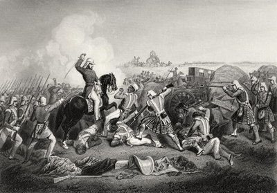 General Havelock's Attack on Nana Sahib at Futtypore in 1857, from 'The History of the Indian Mutiny', published in 1858 (engraving) Postcards, Greetings Cards, Art Prints, Canvas, Framed Pictures, T-shirts & Wall Art by English School