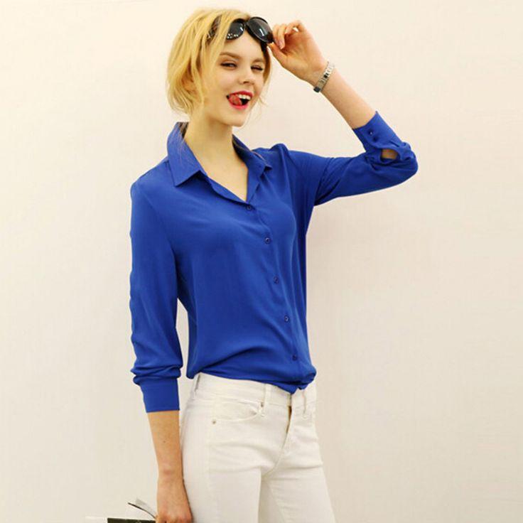 work wear women shirt blouse casual solid elegant ladies chiffon office blouse top new fashion summer formal Blusas Femininas Online Order – Wallreview Online Store
