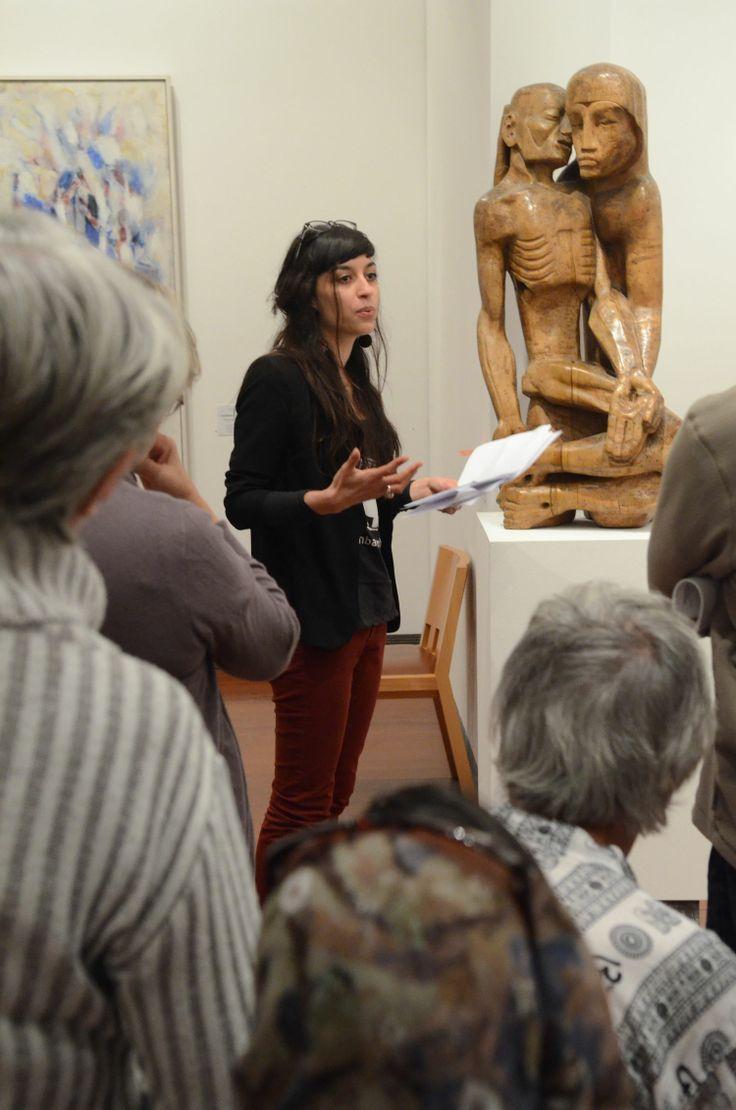 Médiation autour d'œuvres choisies par des  des lycéens et des étudiants lors de la Nuit des musées 2014.