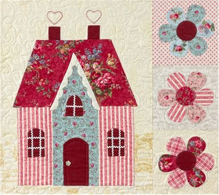 Sweetheart Houses Block 7 Kit: **Please note, this kit is for Block 7 only.** Block 7 of Sweetheart Houses by Shabby Fabrics. Block finishes to 20
