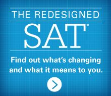 Homepage of the SAT on the College Board website. You can find out when the SAT is being administered, sign up for a test administration, and access lots of practice questions on this site.