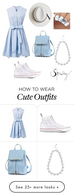 """""""Casual Spring Outfit"""" by prepawsterous on Polyvore featuring Chicwish, Converse, Calypso Private Label and M&Co"""