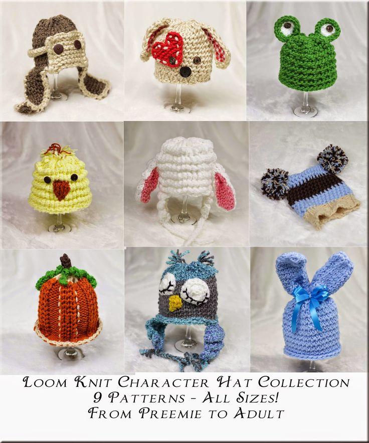 This Moment is Good...: New Loom Knit Character Hat Collection on Etsy!