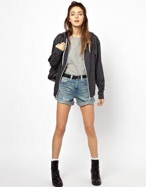 Immagine 1 di Levi's - Pantaloncini di jeans a vita alta effetto consumato