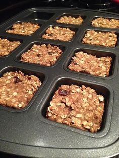 not a dinner but interesting addition to the menu....Oatmeal Raisin Breakfast Bars (gluten-free, no sugar added, dairy-free)