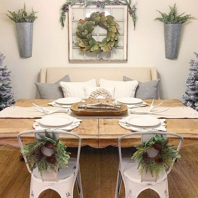 20 Best Christmas Interior Decorating Ideas Farmhouse Dining Room TableFarmhouse Wall
