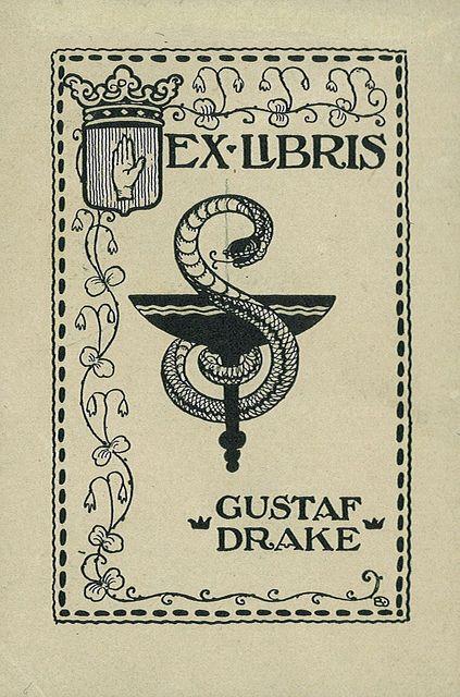 Ex libris of Gustaf Drake