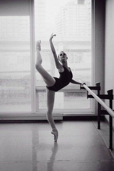 Pointe -- I don't think everyone understands how hard this move is.. dance is truly an art.