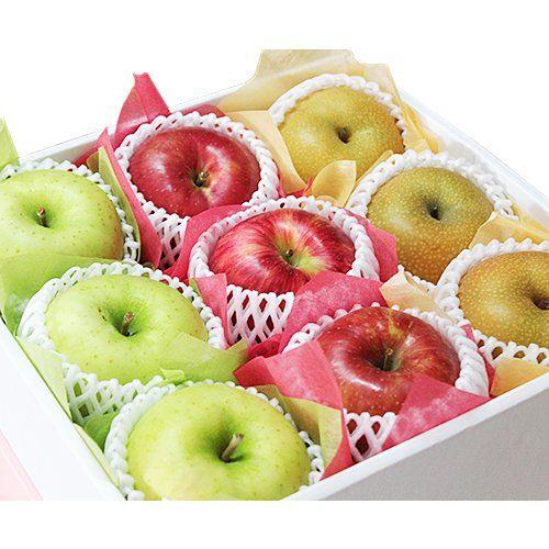 【 敬老の日 ・ 贈答用 】 林檎と梨の彩 フルーツセット (中) 厳選フルーツ マルイチ西川商店…