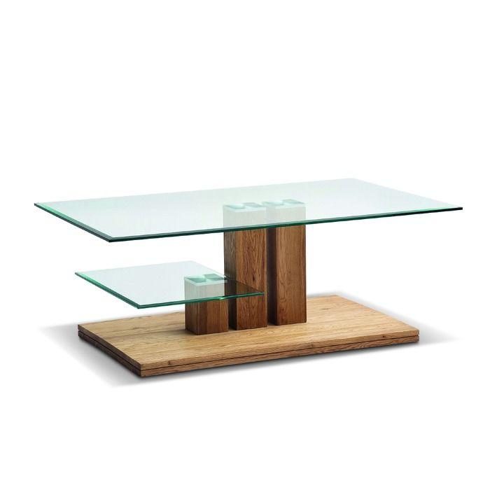 Mca Couchtisch Paco Eiche Glas In 2020 Couchtisch Eiche Und Tisch
