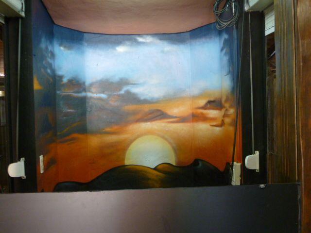 Decoración interior cabina DJ ,chiringuito OASIS (2012)