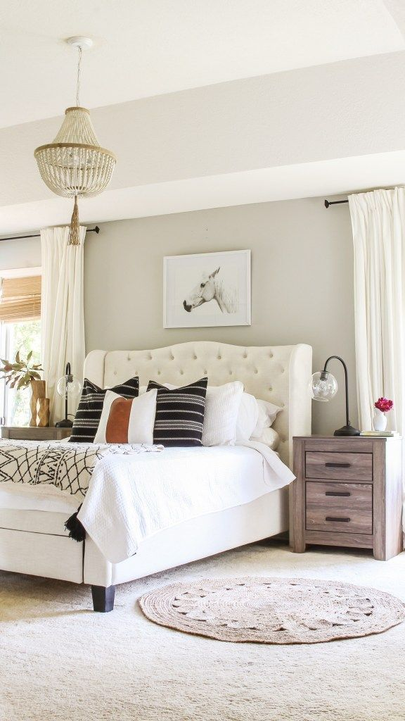 My Review Of Repose Gray By Sherwin Williams Neutral Paint Color Ideas My Re In 2020 Modern Rustic Master Bedroom Rustic Master Bedroom Rustic Master Bedroom Design