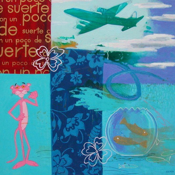 Con Un Poco De Suerte - http://www.contemporary-artists.co.uk/paintings/con-un-poco-de-suerte/