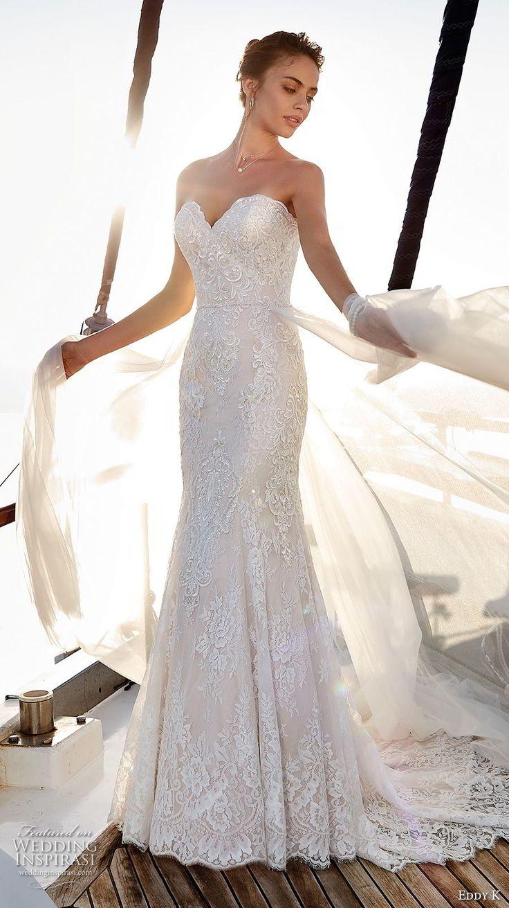 eddy k 2018 bridal strapless sweetheart neckline full embellishment elegant fit and flare wedding dress chapel train (4) mv