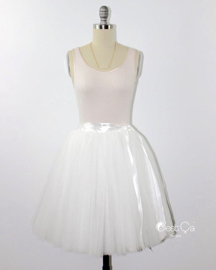Clarisa - Cream White Tulle Skirt, Bridesmaids Tulle Skirt, Puffy Princess Tutu, Knee-length Skirt, Adult Tulle Skirt, Plus Size Tutu  What can be more feminine than a princess style tulle skirt? Wear it with a...   https://nemb.ly/p/NkV7bp2VW Happily published via Nembol
