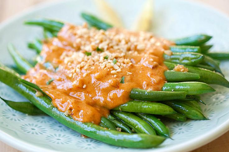 Green Beans with Peanut Sauce | Recipe | Sauces, The o'jays and Beans
