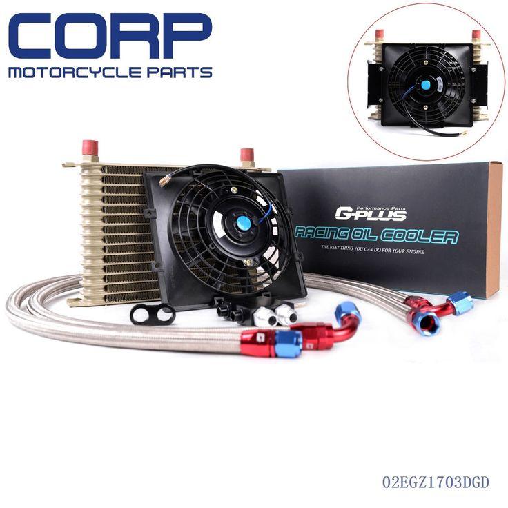 """(62.29$)  Watch here  - """"15 Row AN10 Oil Cooler +7"""""""" Fan For BMW N54 Twin Turbo 135 E82 335 E90 E92 E93"""""""