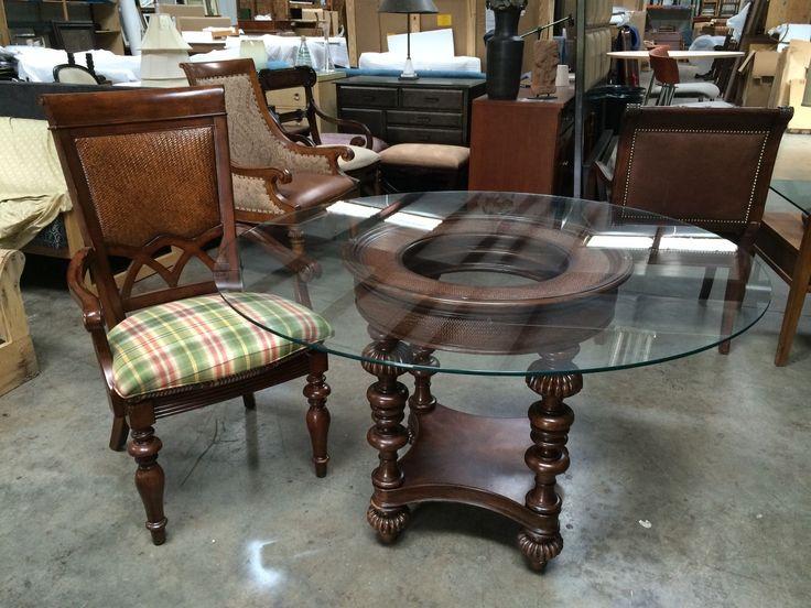 White Leather Sofa Thomasville Furniture Hemingway Pepica Table Veranada Bay Dining Set eBay
