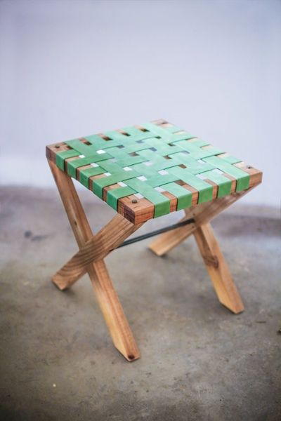 Green Riempie Stool from APlace
