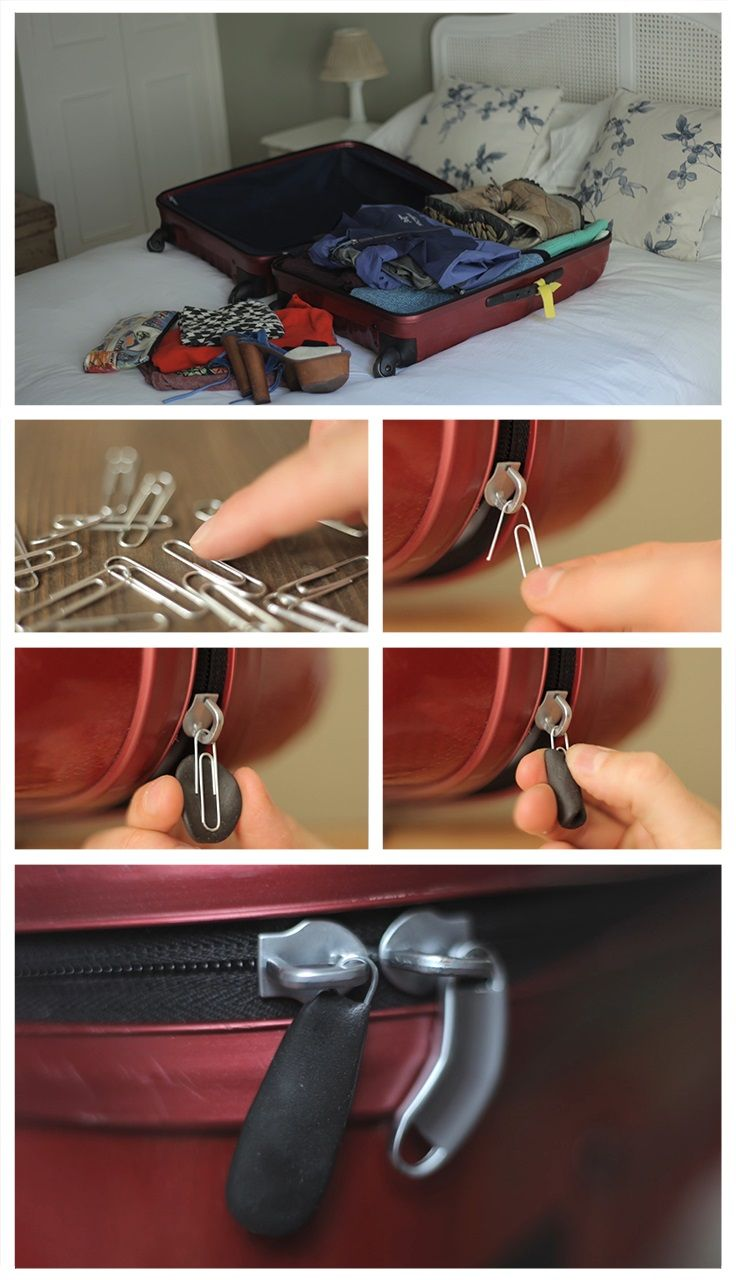 Whether it's a pencil case, a jacket or a school bag, fix any broken zip quickly and easily with Sugru and a paper clip!