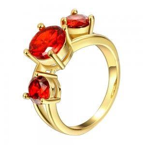 El níquel antialérgico de alta calidad de la nueva manera de la joyería del anillo de circón blanco plateado