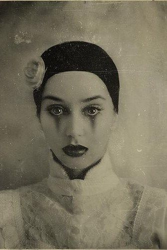 | Rimel Neffati. Vintage Weathered Circus-esque Portrait of a Young Lady. | There is something so magical, and captivating about this photo... I absolutely adore it!