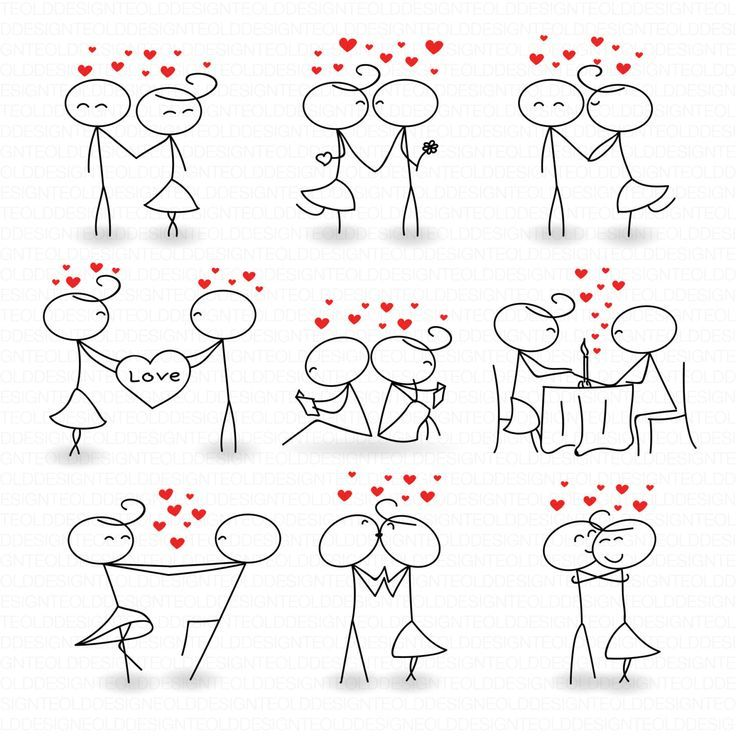Stick Figure Clipart Clip Art Love Stick People Couple Clipart Clip Instant Download Art Commercial & Personal Use. Great for use on romantic short story activities. Not too mushy.