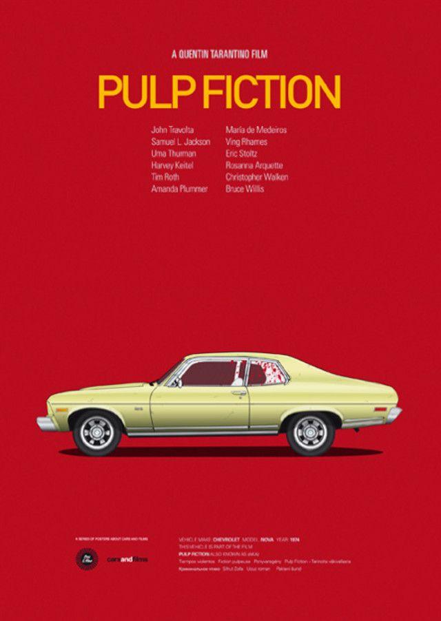 Cartel alternativo para Pulp Fiction #cine #film / Haz click sobre el postar para jugar a las Bandas Sonoras