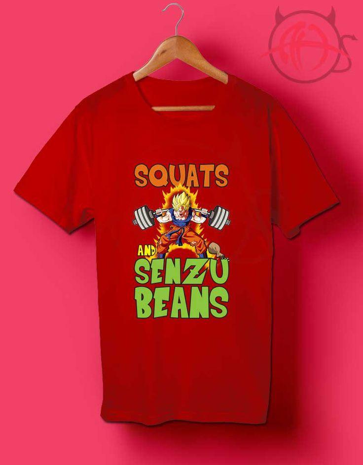 Squats and Senzu Beans Goku T Shirt